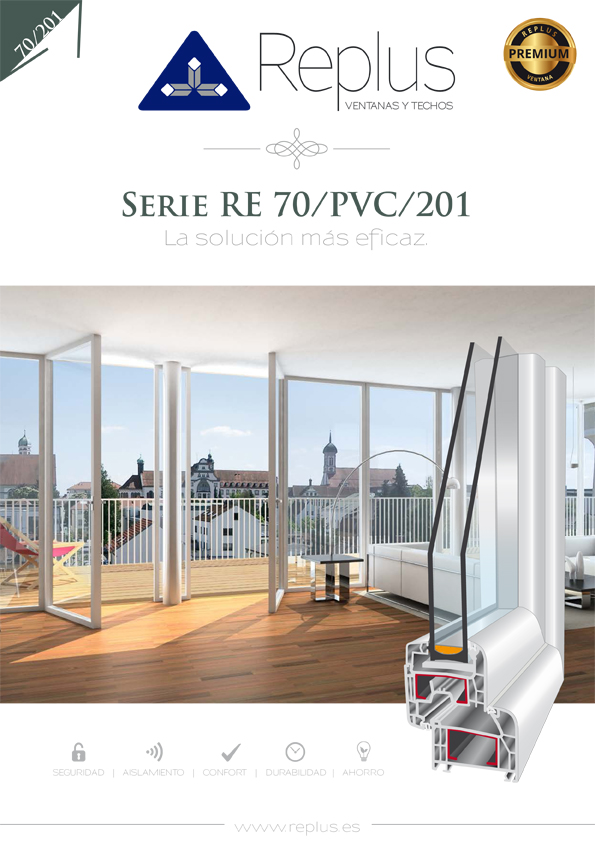 VENTANA ABATIBLE RE 70/PVC/201