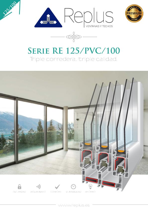 VENTANA CORREDERA RE 125/PVC/100