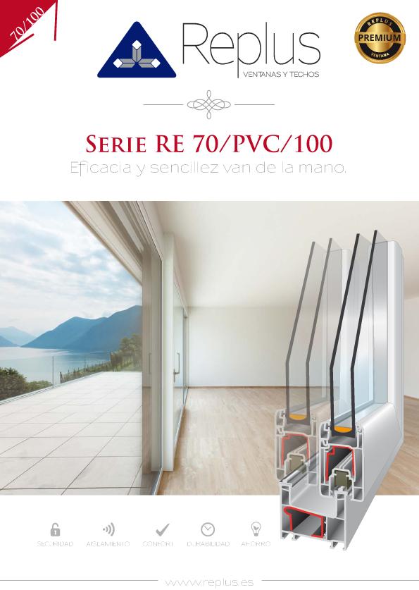 VENTANA CORREDERA RE 70/PVC/100