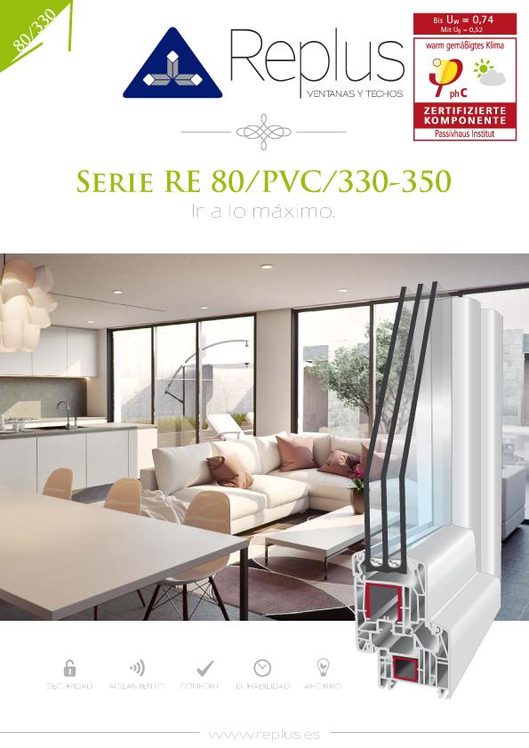 VENTANA OSCILO PARALELA RE 80/PVC/330-350