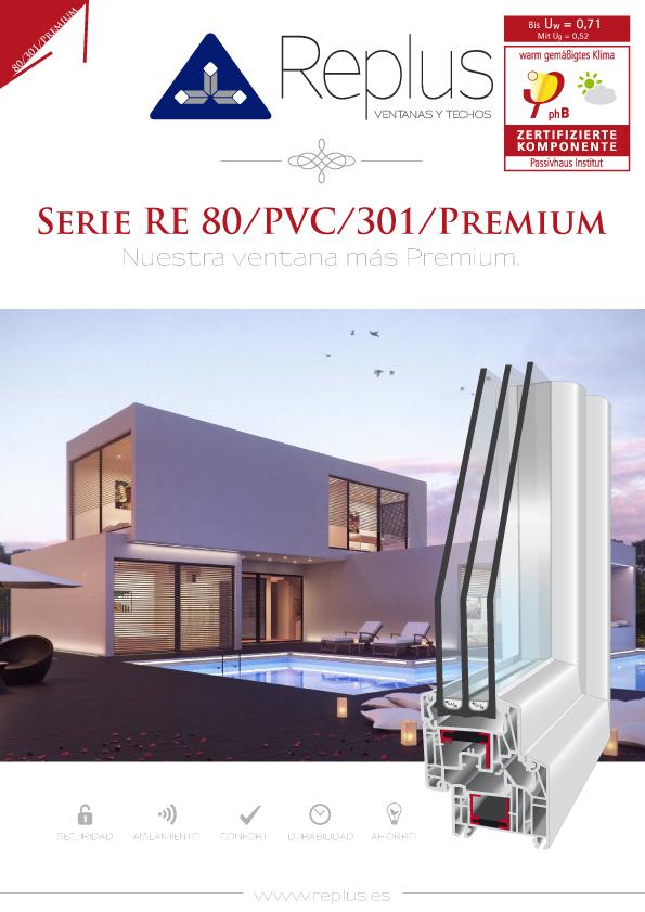 VENTANA ABATIBLE RE 80/PVC/301/PREMIUM